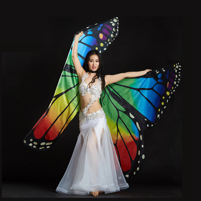 Belly Dance Costume Butterfly Isis Wings for Adults / Children 2 Colors
