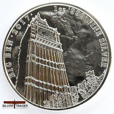 2017 1oz Big Ben Landmarks of Britain 1 ounce Silver Bullion Coin unc:
