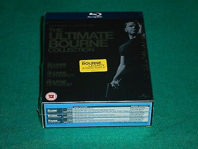 The Bourne Ultimate Collection Cofanetto 3 blu-ray edizione import audio italino