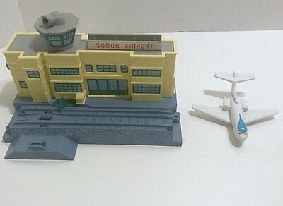 Thomas & Friends Trackmaster Sodor Airport with Jeremy Airplane Plane Tomy GUC