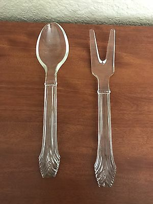 Spoon And Fork Glass Utensils