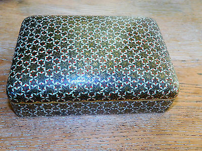 Vintage Decorated Intricate Persian Khatam Box Handmade beautiful detail