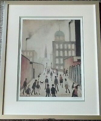 """L S Lowry signed limited edition print """"Mrs Swindells' Picture"""""""