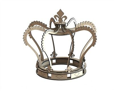 Y139 Princess Crown Wedding Table Numbers Center Decoration Piece Cake Topper