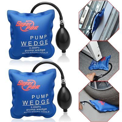 2× PDR Automotive Air Pump Wedge Auto Hand Set Shim Window Inflatable Hand Tool