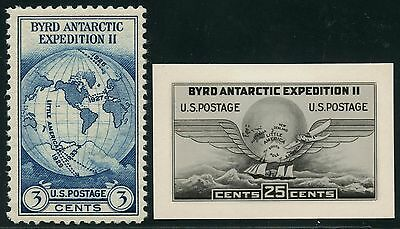 #733E Byrd Antarctic Expedition Ii B.e.p. Photo Essay W/ Finished Stamp Hw2727