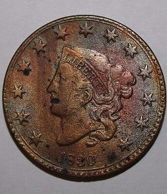 1830 US Large Cent V76