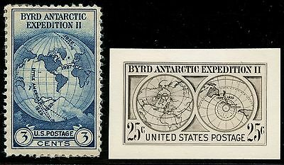 #733E Byrd Antarctic Expedition Ii B.e.p. Photo Essay W/ Finished Stamp Hw2730