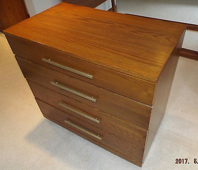 Raymond Lowey-Mengel Furniture Four Drawer Chest MCM Mid Century Modern
