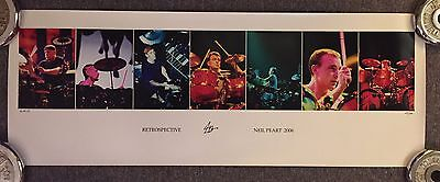 Neil Peart AUTOGRAPHED lithograph RUSH Andrew MacNaughtan RARE limited  #211/500