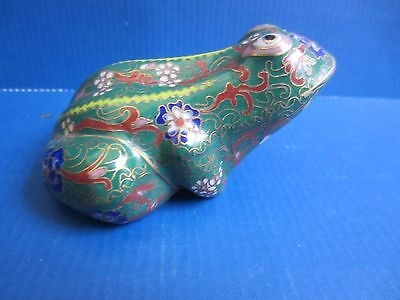 Cloisonne Frosch Frog Tierfigur Email China Japan