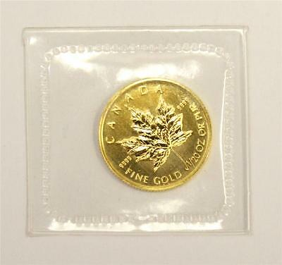 1993 Canada 1/20th ounce 9999 Gold Maple Leaf MS65+ sealed in RC Mint plastic