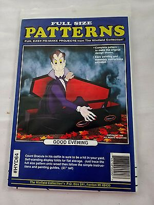 Dracula Good Evening Coffin Winfield Woodworking New Uncut  Pattern HYD64 Wood