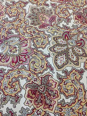 Waverly Inspirations Dark Paisley Antique Cotton Fabric Home Decor BTY