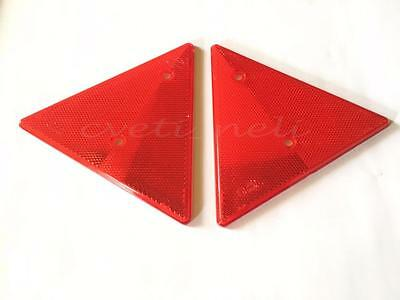 New 2x Triangular Red Reflectors Triangle Pair for MERCEDES