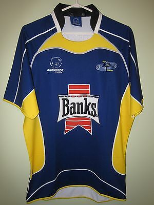 rare TEAM BARBADOS Mongoose Sports rugby jersey shirt XL World Cup Banks Beer