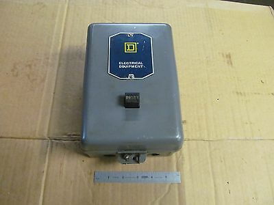 "SQUARE ""D"" Magnetic Starter, 15 AMP, 240 Volts, Type BHO-40"