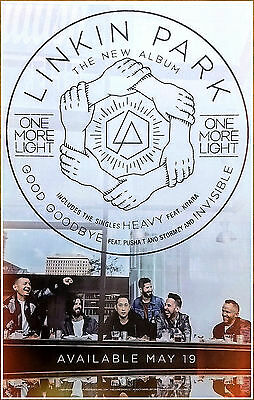LINKIN PARK One More Light 2017 Ltd Ed RARE New Litho Poster +FREE Rock Poster!