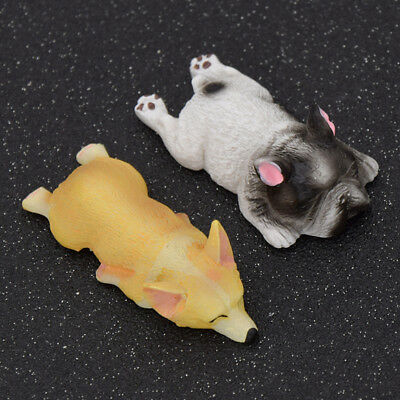 2 Pcs Funny Dog Corgi Fridge Magnet Resin Refrigerator Stickers Gift Home Decor