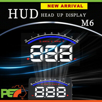 """M6 HUD 3.5"""" OBD II 2 Speed Warning Gauge FuelConsumption For Jeep Grand Cherokee"""