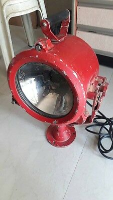 Old Vintage Marine Salvage Light Metal Aluminum ! Good Condition