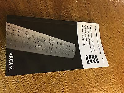 Arcam CR100 Remote Control Instruction Manual User Guide Programming Information