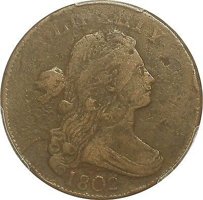 1802 Draped Bust Large Cent  *8 Low & Leaning Right-PCGS*  S-229  R3 ( #-815PNI)