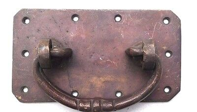 Vtg 1920s BRASS Ornate Castle Drawer Cabinet Dresser Pull Handle Knob (3 Of 9)