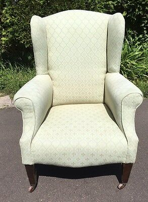 Vintage Antique Victorian/Edwardian Wingback Fireside Armchair.