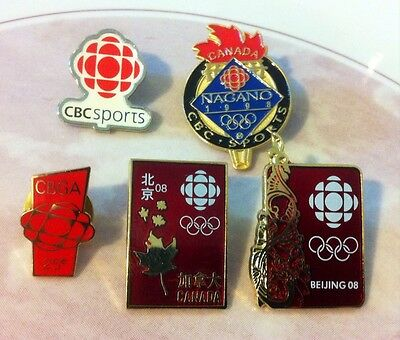CBC Sports Radio Canada Media Pins Rare Collection