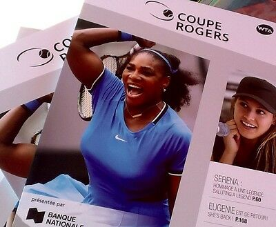 Rogers Tennis Cup Montreal Official Program  2016