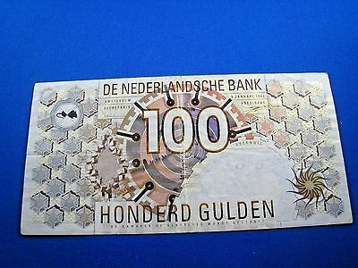 NETHERLANDS  1992  100 GULDEN BANKNOTE   (mr)