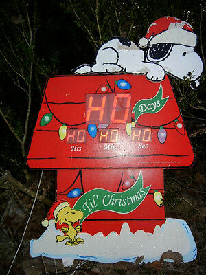 ANIMATED COUNTDOWN to CHRISTMAS SNOOPY & WOODSTOCK HOUSE INDOOR/OUTDOOR DISPLAY