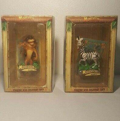 Madagascar Alex the lion and Marty the zebra figures