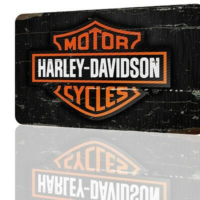 METAL SIGN Harley Davidson LOGO Amazing Poster Garage Decor Wall Art Rusted ART