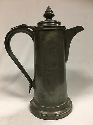 Antique Pewter Ale Flagon by James Dixon and Sons
