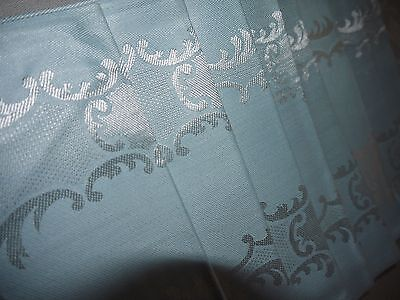 8*Vintage*Blue & Silver* Damask*Napkins*made Japan*Roses & Scrolls*NOS*w label*