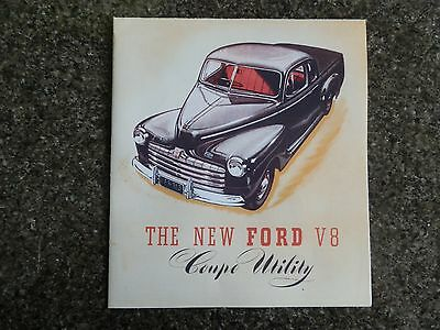 1946 Ford Coupe Utility & Van ''rare'' Aust Rhd Sales Brochure. 100% Guarantee