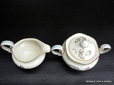 GLORIA by CASTLETON CHINA ~ Creamer & Lidded Sugar Bowl Set .................AND