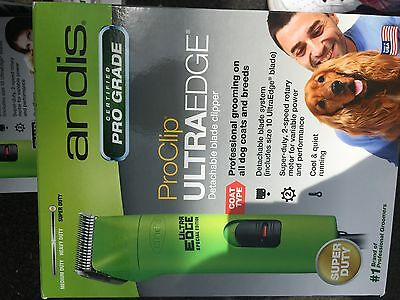 Andis ProClip AGC2 UltraEdge 2Speed Detachable Blade Pet Clipper Green 22585 New