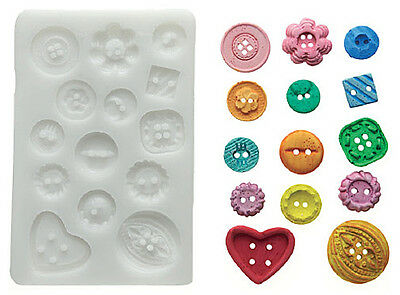 Silikomart Silicone Mould - Buttons - Assorted