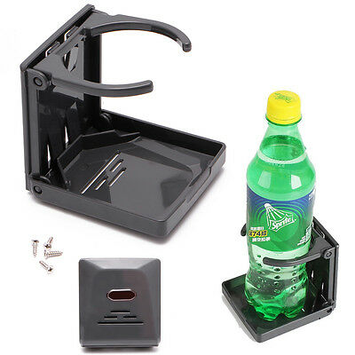 Black Folding Drink Cup Can Bottle Holder Stand Mount Car Auto Boat Fishing Box