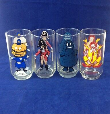 Mcdonald'S Glasses 1970'S Collector Series Set Of 7