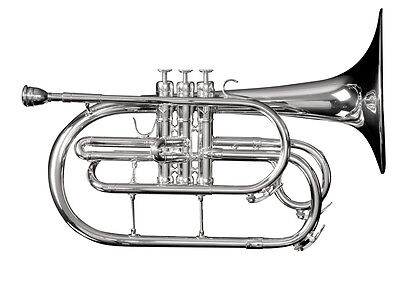 Adams MM1S Marching Mellophone w/ Case (Silver) - Demoed Once