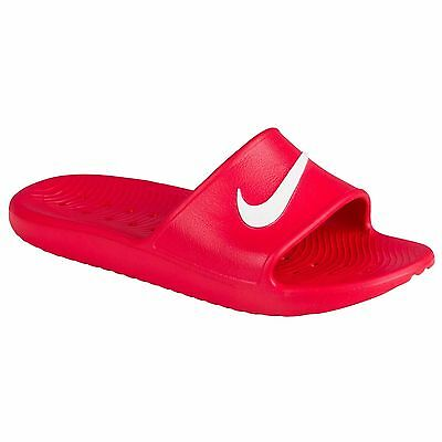 Nike KAWA SHOWER Men's Slide Red/White Slipper 832528 600  Free Shipping