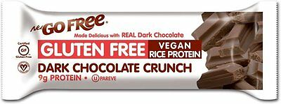 NuGo Free Bar, NuGo, 12 bars Dark Chocolate Crunch