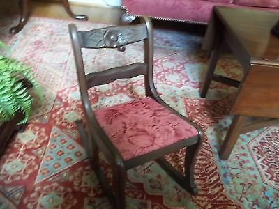 "Vintage/antique  Hall""s Childs Mahogany Rocker"