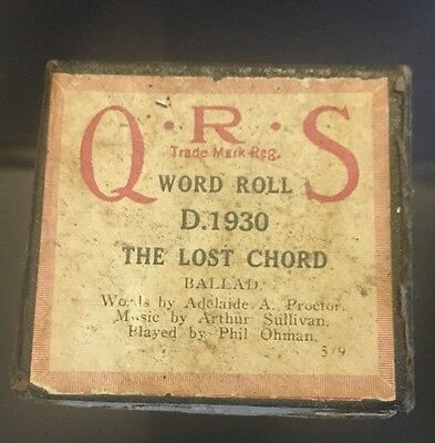 Pianola -Piano Roll- The Lost Chord - BALLAD - Word Roll - Q.R.S D.1930