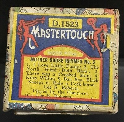 """Pianola Piano Mother Goose AHYMES No.3 """" Mastertouch D.1523"""