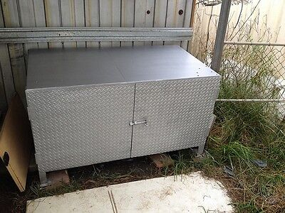 Work Bench Solid Chequer Plate Steel